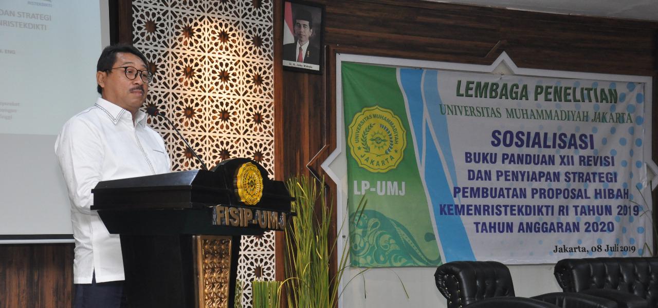 Rektor UMJ Prof. Syaiful Bakhri